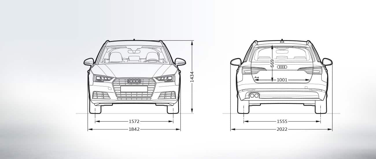 Frontview And Rearview Sideview Audi A4 Avant A4 Audi