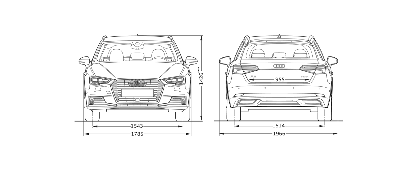 E Tron Frontview And Rearview Sideview Audi A3 Sportback Configurator Uk